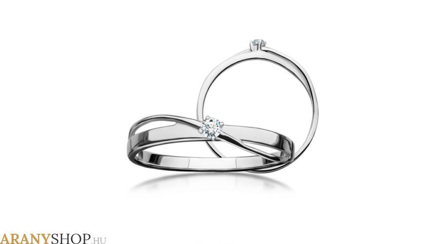eljegyzési gyűrű fehérarany